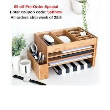 Wood Desk Accessories Wood Desk Organisers Desk Accessories Stationery Organiser