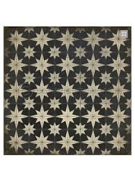 Retro Linoleum Floor Patterns by Spicher Vinyl Floor Cloths Black Atomic Vinyl Floor Cloth Square