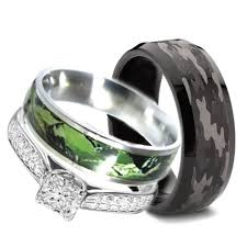 camo wedding ring sets wedding rings ideas his and camo wedding rings with small