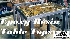 epoxy table top resin dc epoxy resin table tops youtube