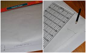 how to transfer a sewing pattern with freezer paper craft buds roll out freezer paper to completely cover your printed sewing pattern with the shiny side of the freezer paper facing down use a pencil and ruler to