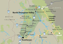 Map Of Bc Barriere And Lower North Thompson Valley Maps And Tourism Information