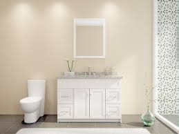 Cream Bathroom Vanity by Simple Bathroom Decoration Using Cream White Bathroom Wall Paint