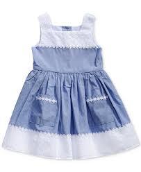 sweet eyelet chambray dress toddler 2t 5t