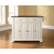 Kitchen Island Black Granite Top Crosley Alexandria Solid Black Granite Top Kitchen Island White