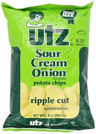 ripples chips utz sour potato chips and ripple cut 10