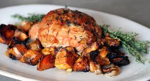 thyme roasted turkey breast with sweet potatoes festibrate
