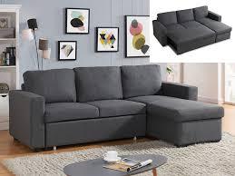 promo canapé canapé d angle convertible et réversible tirua pas cher tissu gris