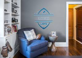 detroit lions personalized name wall decal shop fathead for detroit lions personalized name fathead wall decal