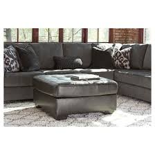 Oversized Loveseat With Ottoman Owensbe Accent Oversized Accent Ottoman Charcoal Signature