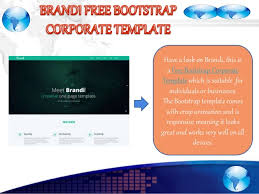 12 best free bootstrap business templates in october 2015
