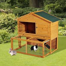 Large Rabbit Hutch Aosom Pawhut 48