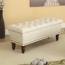 hampton double storage bench in beige benches accent seating