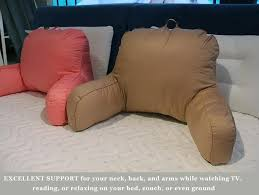 pillow for watching tv in bed reading cushion with arm support watch tv chair bed rest pillow