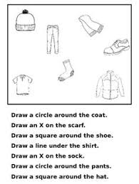 listening and following directions listening skills and worksheets