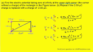 a find the electric potential taking zero at infinity at the
