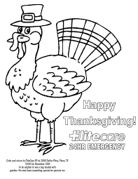 thanksgiving coloring contest elite care emergency room plano