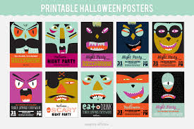 cool printable halloween posters stickers and banners on behance