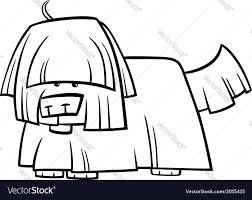 shaggy dog cartoon coloring page royalty free vector image