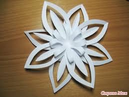 Snowflake Flower - christmas craft ideas paper snowflake flower tutorial crafts