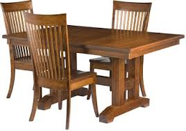 Craftsman Dining Table by Handcrafted Dining Room Sets From Erik Organic