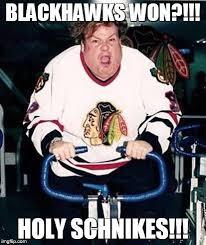 Blackhawks Meme - chris farley blackhawks imgflip