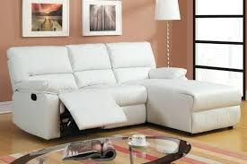 white leather reclining sectional sofa off corner recliner 19174