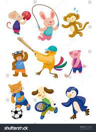 cartoon animal sport player stock vector 86768338 shutterstock