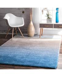 Blue Ombre Rug Surprise 20 Off Nuloom Handmade Soft And Plush Ombre Blue Shag