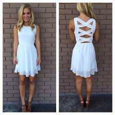 white summer dresses dress white dress backless white dress crossback dress