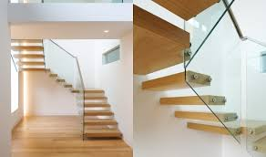 U Stairs Design Floating Stair Tread Brackets Ontemporary Brightly U Shaped