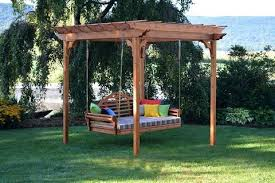 pergola swing cedar pergola swing furniture cedar pergola w option curtains