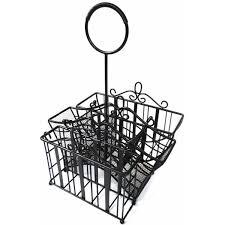 amazon com 1 x portable wrought iron utensil picnic caddy