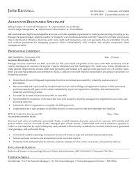 Clerical Sample Resume by Accounts Receivable Clerk Cover Letter