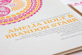 wedding invitations indian indian pattern letterpress wedding invitations