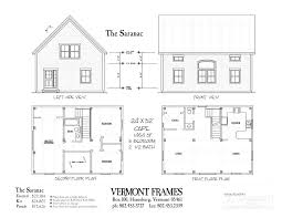 Floor Plan Front View by Saranac Cape Vermont Frames