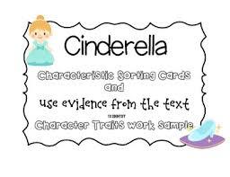ccss cinderella characteristics sort u0026 character trait graphic