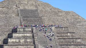 teotihuacan moon pyramid mexico city stock video footage