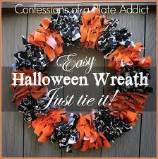halloween wreath confessions of a plate addict easy halloween fabric wreath just
