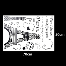 Home Decor Direct Sales 1 X Eiffel Tower Diy Removable Art Vinyl Wall Sticker Decor Mural