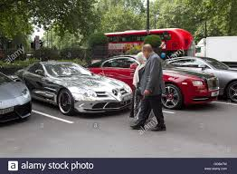 london uk 10th august 2016 supercars with arabic licence plates