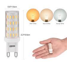 ledgle 5 pcs 6w led light bulbs g9 led lamp bulb 3 color