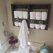 towel rack ideas for bathroom 27 beautiful diy bathroom pallet projects for a rustic feel