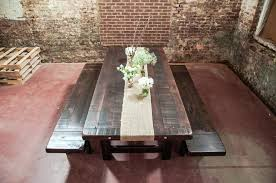 Distressed Pedestal Dining Table Solid Wood Trestle Dining Table Sturdy Distressed Trestle Dining