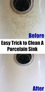 How To Clean Kitchen Sink With Baking Soda Cleaning Tip Tuesday Cleaning A Porcelain Sink Porcelain Sink