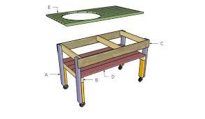 Big Green Egg Table Dimensions Xl Big Green Egg Table Plans Myoutdoorplans Free Woodworking