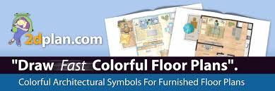 Color Floor Plan Color Floor Plans Architectural Symbols For Colorful Furnished