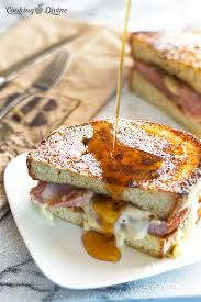 french toast croque monsieur sandwich cooking divine