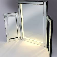 vanity mirror with led lights bevelled silver cheval freestanding mirror with white led