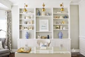 Crown Molding Bookshelf Site Montgomery Built In Bookshelves Home Office Cococozy White